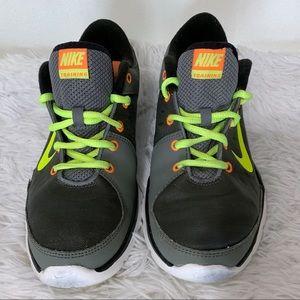 Women's 8 Nike Flex 2 Trainers Neon Yellow, Gray
